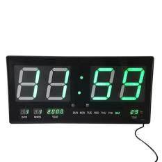 โปรโมชั่น E F W นาฬิกาบ้าน Wall Clock โรงงาน ขนาดใหญ่ Led ติดฝาผนัง Alarm Digital ดิจิตอล วัน เดือน ปี องศาC ขนาด 19 นิ้ว ไฟสีเขียว Green Light Jh4622 4 กรุงเทพมหานคร