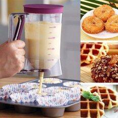 ราคา เครื่องหยอดแป้งขนม เหยือกทำขนม เหยือกตวง แพนเค้ก คัพเค้ก และ วาฟเฟิล Cake Pancake Mix Batter Dispenser Unbranded Generic