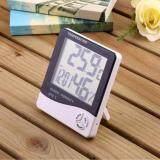 เครื่องวัดอุณภูมิและความชื้น พร้อมฟังก์ชั่นนาฬิกาปลุก สีขาว Digital Lcd Thermometer Hygrometer Temperature Humidity Meter Gauge Alarm Clock เป็นต้นฉบับ