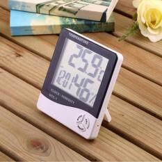 ขาย ซื้อ เครื่องวัดอุณภูมิและความชื้น พร้อมฟังก์ชั่นนาฬิกาปลุก สีขาว Digital Lcd Thermometer Hygrometer Temperature Humidity Meter Gauge Alarm Clock ใน กรุงเทพมหานคร