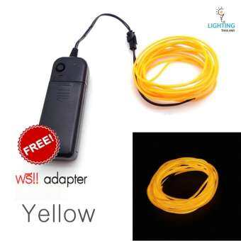EL Wire ไฟเส้นเรืองแสง + Adapter ควบคุม-