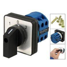 ขาย Electrical 2 Poles Changeover Control On Off On Rotary Cam Switch 20A Intl เป็นต้นฉบับ