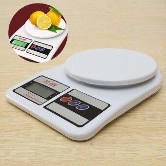 Electronic Kitchen Scale เครื่องชั่งน้ำหนักอาหาร 10000g รุ่น SF-400 (สีขาว)