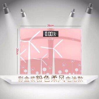Electronic weight scale เครื่องชั่งน้ำหนักดิจิตอล ชมพู (pink)