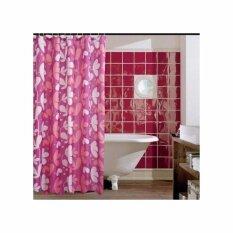 ขาย Elegance ผ้าม่านห้องน้ำ Polyester Flower 180X180Cm ถูก กรุงเทพมหานคร