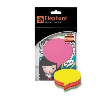 Elephant กระดาษโน้ต กาวในตัว ไดคัท รูปคอลเอาท์ ตราช้าง-