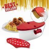 ทบทวน Elit กล่องต้มเส้นพาสต้าในไมโครเวฟ Microwave Pasta Boat Spaghetti Bowl สีขาวแดง