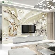 ราคา วอลล์เปเปอร์กวาง Meihua พื้นหลังสติ๊กเกอร์ติดผนังมีกาวในตัวห้องนั่งเล่น ใหม่ ถูก