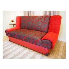 ทบทวน Enzio โซฟาปรับนอน ใหญ่พิเศษ3 ที่นั่ง หุ้มผ้าลาย รุ่น Nature 3 Red Circle Enzio