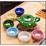 โปรโมชั่น Esogoal 7 Pcs Rainbow Colors ชุดชาจีน สำหรับชงชาและเตาไฟฟ้า ครบเซต สำหรับ 7 ท่าน รวมอุปกรณ์ 7 ชิ้น
