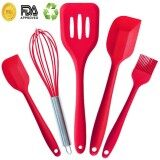 ราคา Esogoal 5 Piece Premium Silicone Kitchen Baking Set Spatulas Spoons Turner Heat Resistant Cooking Utensil By ถูก