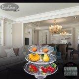 Esogoal ผลไม้ 3 ชั้นสำหรับเค้กผลไม้ขนมหวานบุฟเฟ่ต์สำหรับงานปาร์ตี้และงานปาร์ตี้ฟรี 50 ชิ้นผลไม้ส้อม สมุทรปราการ
