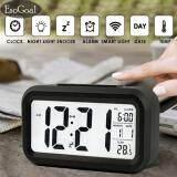 ขาย ซื้อ Esogoal Led Smart Digital นาฬิกาปลุกปฏิทินอิเล็กทรอนิกส์เดสก์ท็อป Backlight นาฬิกา