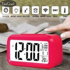 ขาย Esogoal นาฬิกาปลุกตั้งโต๊ะ นาฬิกาปลุกเรื่องแสง นาฬิกาปลุก สีขาว Led Smart Digital Alarm Clock Rose Intl จีน ถูก