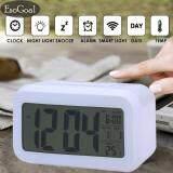 ราคา Esogoal Led Smart Digital นาฬิกาปลุกปฏิทินอิเล็กทรอนิกส์เดสก์ท็อป Backlight นาฬิกา สีขาว เป็นต้นฉบับ