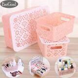 ราคา Esogoal Plastic Desktop Hollow Storage Basket Kitchen Organizer Clothes Toys Storage Container Set Of 3 Esogoal