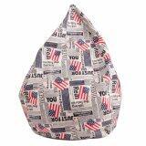 ซื้อ Esupersave เก้าอี้ Beanbag ทรงหยดน้ำ Ø80 ซม ลายธงชาติอเมริกา ออนไลน์