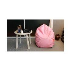 Esupersave เก้าอี้ Beanbag ทรงหยดน้ำ Ø80 ซม. (สีชมพูพาสเทล).