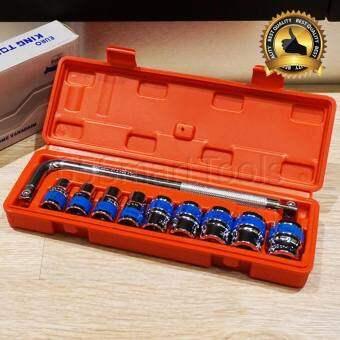 EURO KING TOOLS ชุดเครื่องมือ ประแจ ชุดบล็อก 10 ชิ้น (รวมขนาดที่ใช้บ่อย) ขนาด 1/2