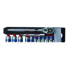 โปรโมชั่น Euro King Tools 12Pcs 1 2 Dr Socket Set Euro King Tools