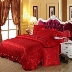 ขาย European Wedding 100 Cotton Satin Jacquard Bedlinen Four Piece Suit ออนไลน์ จีน
