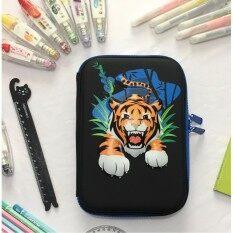 ขาย Smiggle Hardtop Pencil Case Eva 3D Stationery Hardcover Cute Cartoon Animal Pattern Large Capacity Pencil Case Tiger Intl ถูก ใน จีน
