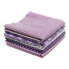 ซื้อ Fabric Cotton Bundles Fat Quarters Polycotton Material Florals Gingham Spots Purple Intl ถูก