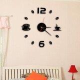 ซื้อ Fashion Acrylic Diy Self Adhesive Interior Wall Creative Decoration Clock Intl Fashiondoor ออนไลน์