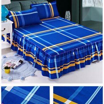 แฟชั่นที่มีคุณภาพสูงกระโปรงเตียงผ้าฝ้ายผ้าคลุมเตียงลาย-นานาชาติ
