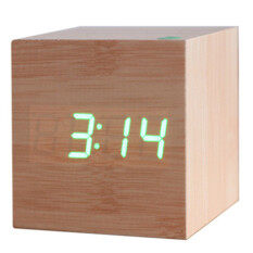 ราคา Fashion Wood Digital Led Desk Alarm Clock Green Unbranded Generic เป็นต้นฉบับ