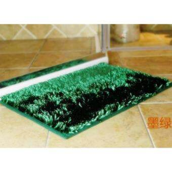 FD Premium  พรมเช็ดเท้าตัวหนอน (แบบมันวาว ) ขนหนาพิเศษ ขนาด (37x57)C.M. รุ่น HLM096 (สี เขียว )-