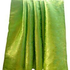 ราคา Fd Premium ผ้าแพร ผ้าห่ม ผ้าคลุม Chinese Blanket 5 ฟุต รุ่น Cba001 ลายทอดอกไม้ สี เขียวอ่อน Fd Premium
