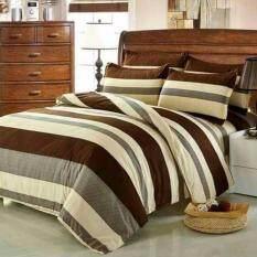 ราคา Fd Premium ผ้าปูที่นอน 3 5ฟุต 3ชิ้น รุ่น 3Aa080 ลายทาง สีน้ำตาล ครีม เทา กรุงเทพมหานคร