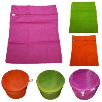 FenFang เซ็ทถุงซักถนอมผ้า ถุงใส่ชุดชั้นใน 14x18 cm. 3 ชิ้น และถุงซักถนอมผ้า เครื่องซักผ้า 40x50 cm. 3 ชิ้น