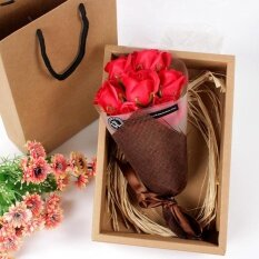 ราคา Festival Gift Hand Bouquet Soap Flower Gift Box Red Intl Unbranded Generic