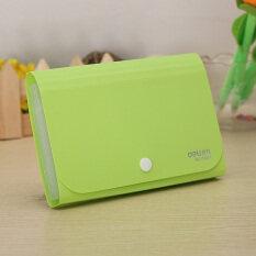 ขาย ซื้อ แฟ้มเอกสารกระเป๋ากระเป๋าใบเสร็จรับเงินผู้ถือบัตรโฟลเดอร์ผู้ถือ Fastener สีเขียว จีน