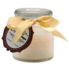 เทียนหอมในแก้ว [filled Glass Candle] กลิ่นวนิลา (vanilla) .