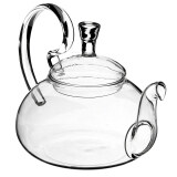 Filter Transparent Glass Flower Tealeaf Teapot Heat Resistant Infuser 600Ml เป็นต้นฉบับ