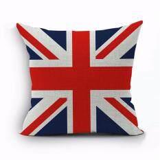 ซื้อ Fine Decorate 45X45 Cm ปลอกหมอนลายพิมพ์ธงชาติอังกฤษ สีสดใส สวยงามสไตล์ยุโรป ออนไลน์