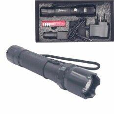 ไฟฉาย แรงสูง ซูมได้ Flashlight Torch Lamp 4 In 1 Set สีดำ ใหม่ล่าสุด
