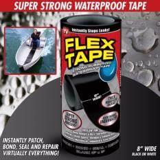 ขาย ซื้อ ออนไลน์ Flex Tape เทปกาวมหัศจรรย์ แปะ เชื่อม ซีล ซ่อมแซมติดได้ทุกรอยรั่ว กันน้ำ เหนียวติดทนนานด้วยวัสดุจาก Usa สินค้าคุณภาพ ของแท้ 100 รุ่นไซต์ใหญ่ 8 นิ้ว X 5 ฟุต