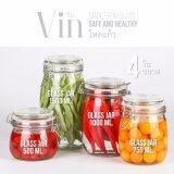 Vin Glass Jar ชุดโหลแก้ว สุญญากาศ 500 750 1000 1500Ml 4ใบ ชุด Vin ถูก ใน ไทย