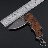 โปรโมชั่น Folding Knifeมีดพับขนาดเล็กด้ามไม้แท้ รุ่น X44 ใน ไทย