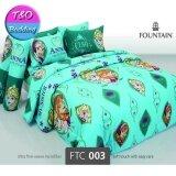 ซื้อ Fountain ชุดผ้าปู 6 ฟุต ฟาวเทน ลายการ์ตูน โฟรเซ่น Ftc003 ไม่รวมผ้านวม Fountain เป็นต้นฉบับ