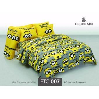 Fountain ชุดผ้าปูที่นอน ไม่รวมผ้านวม ฟาวน์เทน ลายการ์ตูน มินเนี่ยน Minions รุ่น FTC007-