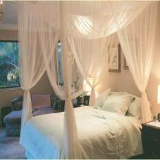 ราคา Four Corner Post Bed Canopy Mosquito Net Size 190Cmx210Cmx240Cm Intl ใหม่