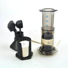 จัดส่งฟรีที่ดีที่สุดเครื่องชงกาแฟแบบพกพาเครื่องชงกาแฟ Haole กด Aeropress เครื่องชงกาแฟเครื่องชงกาแฟพร้อมตัวกรองโลหะ (สีขาว) - นานาชาติ.