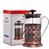 ส่วนลด French Press Coffee Maker Vintage Tea Pot 600 Ml 3 Layers Filter Stainless Steel Intl