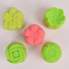 โปรโมชั่น Freshyware แม่พิมพ์ซิลิโคน ชุดรวม แบบที่ 1 ถ้วยเดี่ยว ไซส์กลาง 4 4 5Cm ทุกดอกไม้ 50 ชิ้น คละสี ไทย