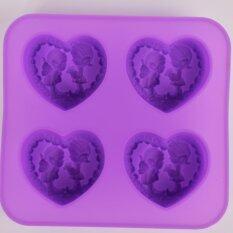 ราคา Freshyware แม่พิมพ์ซิลิโคน พิมพ์สบู่ 3 มิติ ความรัก หัวใจ 4 หลุม พิมพ์วุ้น ทำน้ำแข็ง ทำ Chocolate Food Grade ใหม่